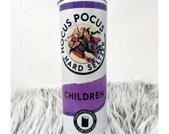 Hocus Pocus customized 20oz skinny stainless steel tumbler
