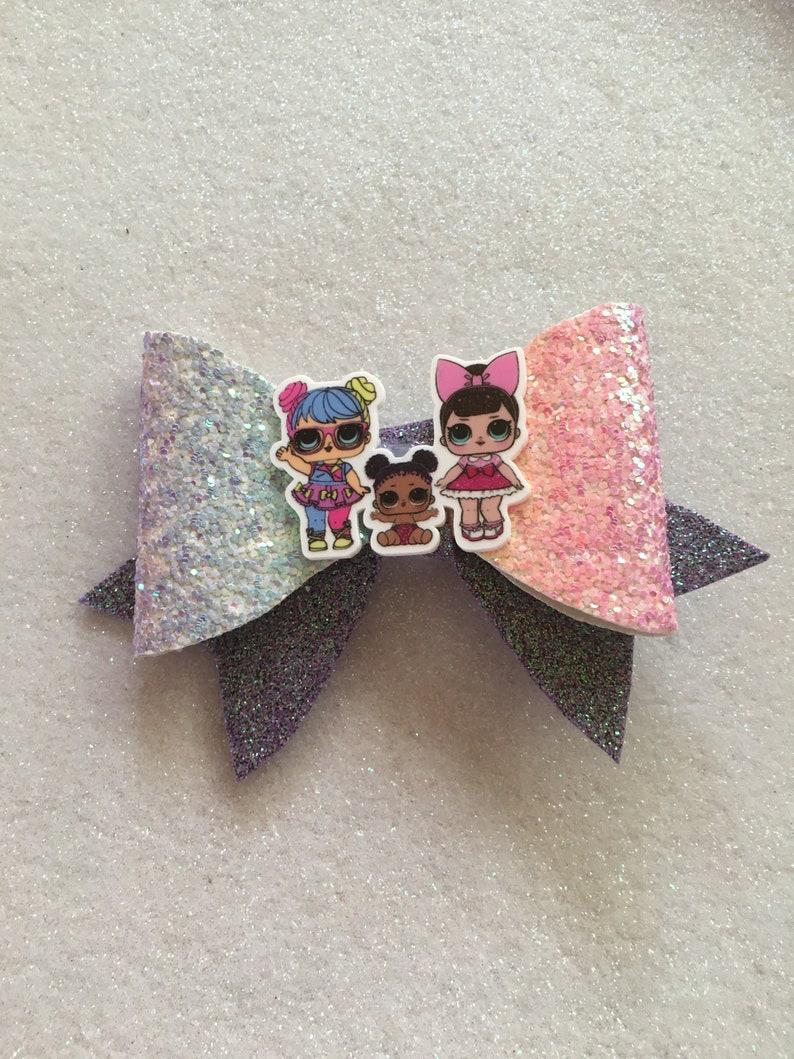 sparkly handmade hair bow clip large