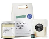 DIY Candle Making Kit, Soy Wax- Do it Yourself Scented Candle - DIY Gift - Adult Craft Kit -  DIY Kit - Soy