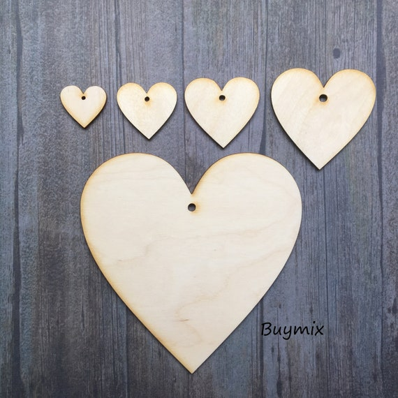 Wooden Birch Ply Love Doves Heart Craft Shapes 3mm Thick Blanks Personalised