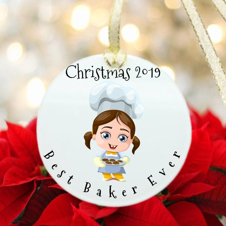 Personalized Baker Gifts Baker Ornament Best Baker Ever gift Cake Baker Gifts Funny Baker gifts Christmas Gift for Baker Inexpensive