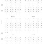 PRINTABLE Year at a Glance 2020 - A5 Size