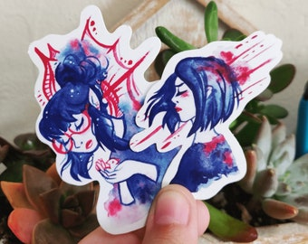 Abstract Girls Waterproof Glossy Stickers