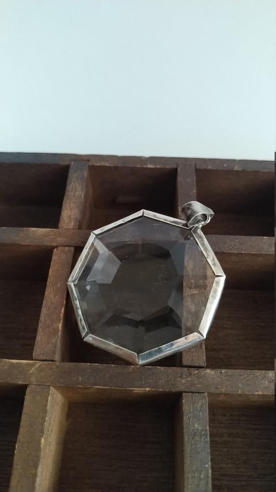 Glass Pendant, Vintage jewelry, succulent jewelry,
