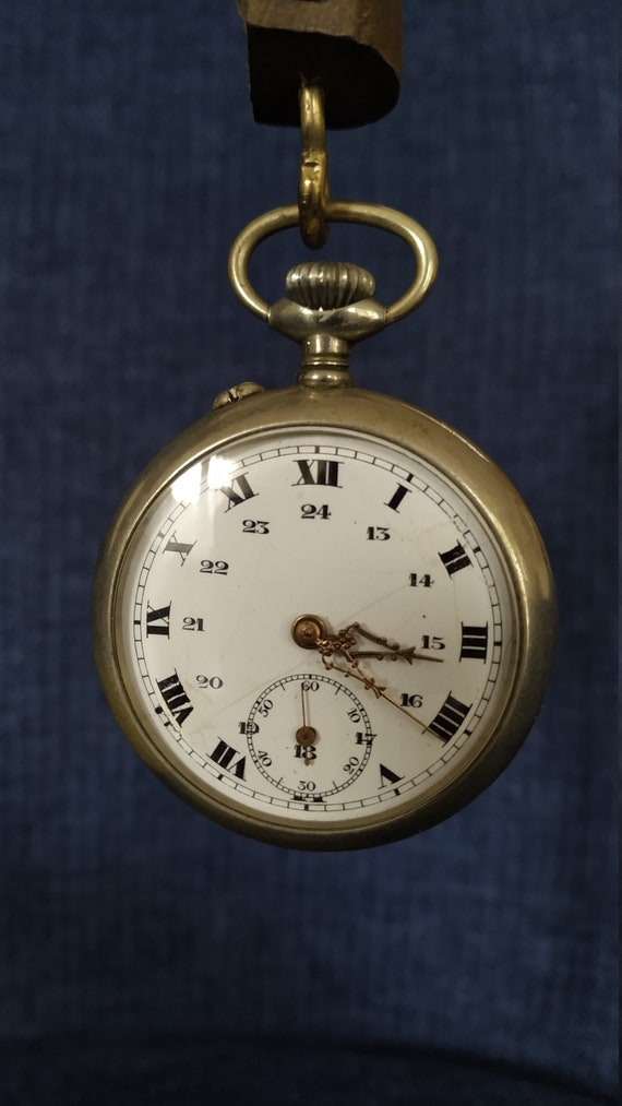 Argentan mechanical watch, Antique Pocket Watch, C