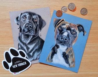 Custom Pet Portrait, Personalized Pet Art, Animal Print, Dog Drawing, Cat Drawing, Dog Gift, Memorial Pet Drawing, Cat Gift, Soft Pastel