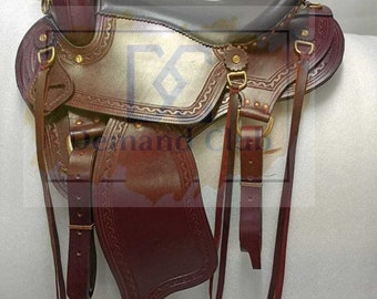 New Endurance Trail Leather Equestrian Western Saddles & Tack 14 inch to 18 inch Free Shipping