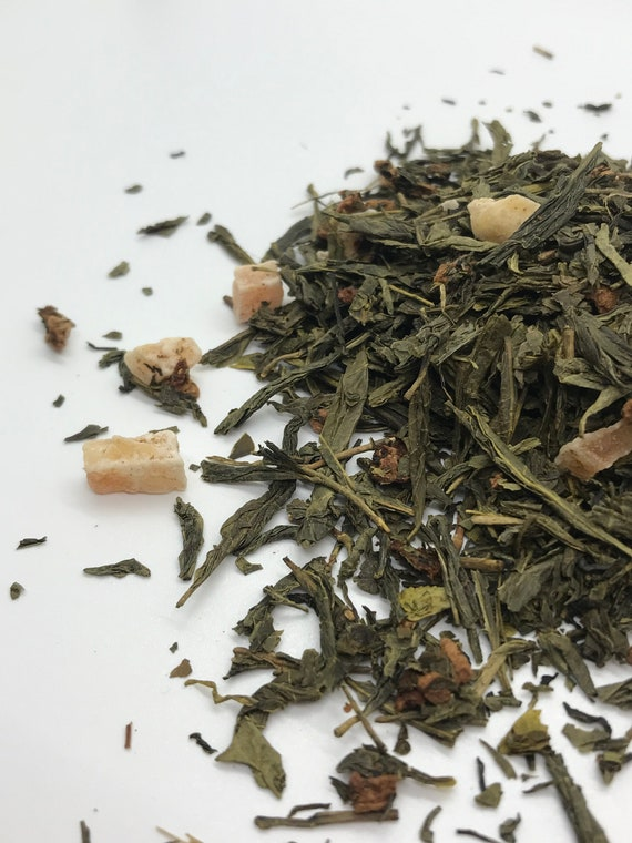 Loose leaf tea, long island strawberry green tea, a perfect Valentine's day gift.