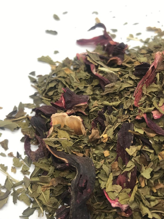 Maui Mint flavored herbal tea.  Perfect holiday tea gift.
