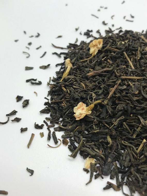 Loose leaf tea, Jasmine with flowers green tea