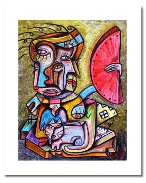 """Fine Art Print: """"EL HOMBRE del ABANICO"""""""
