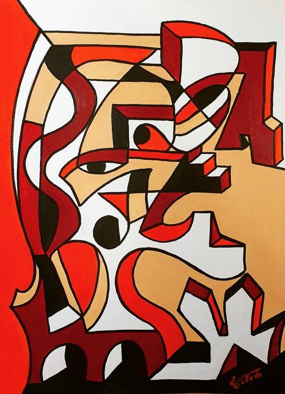 FIGURA CUBISTA Nr. 3 (42 x 30 cm)