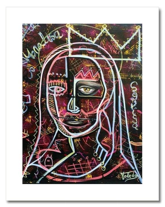 "Fine Art Print: ""LA MIRADA de MONALISA"""