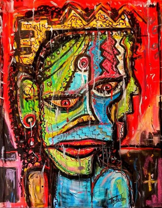 The FRIDAY NIGHT KING  (50 x 40 cm)