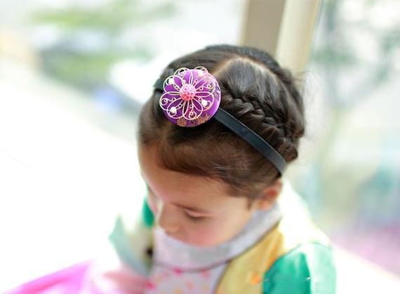 Korean Hanbok head piece BASSI Girl Baby Junior Hair Accessory