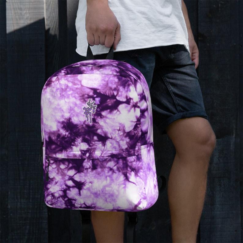DRIP OR DYE Cosmic Crush Ice Krackle Crystal Color Cloud Tie Dye Indigo Ink Lite Backpack