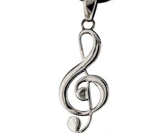 Violinschlüssel halskette | Etsy