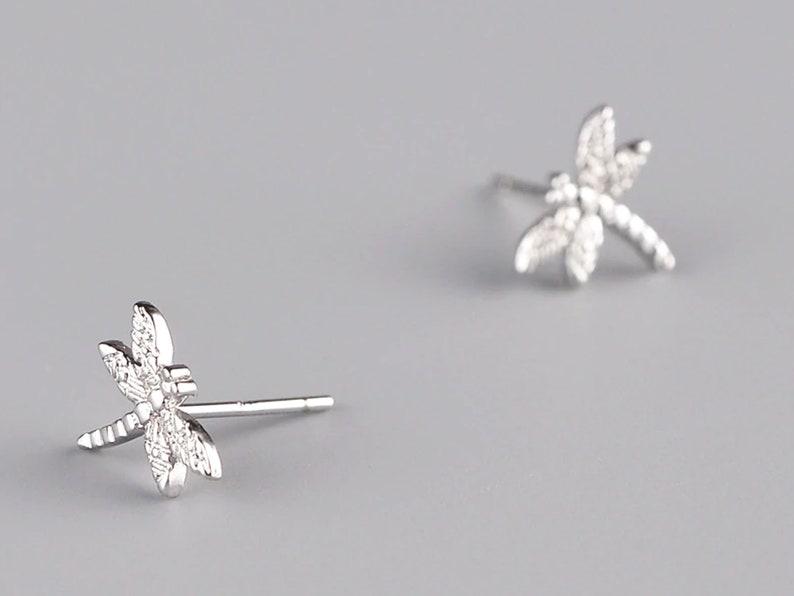 Dragonfly Earrings Silver Earring Sterling Silver Dragonfly Jewelry For Women,Girls Tiny Earrings Fashion design