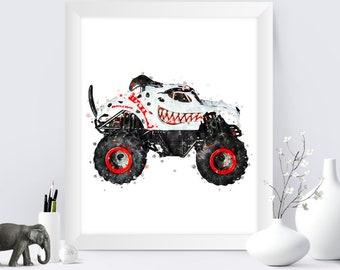 Monster Truck Print Etsy