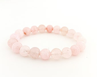 Communication and Wellness Bracelet Love 18k Gold Watermelon Charm and Kunzite stone