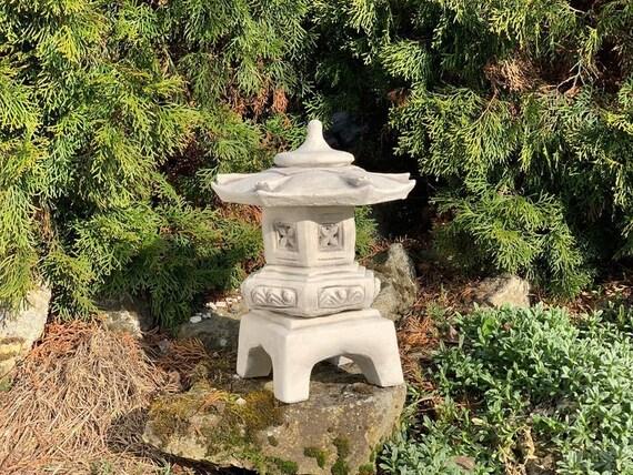 Japanese Pagoda Stone Latern Concrete Pagoda For Garden Yard Etsy