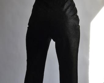 Dark Brown Leather Women/'s Trousers Vintage 1990/'s Danier Designer Kid Leather Pants Chocolate Brown Leather