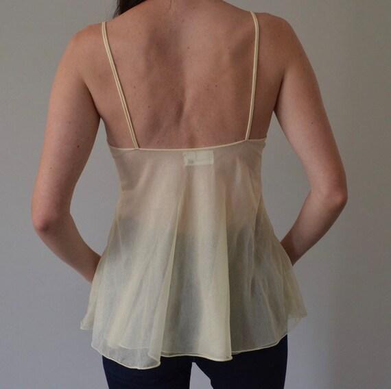 Vintage Pierre Cardin Sheer Mesh Lace Camisole - image 4
