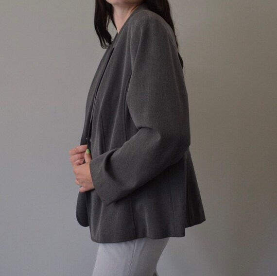 Classic Grey Oversized Blazer - image 3