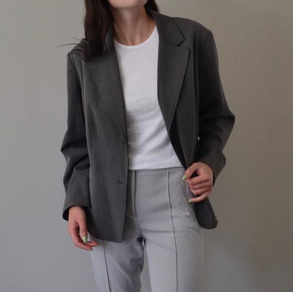 Classic Grey Oversized Blazer - image 1