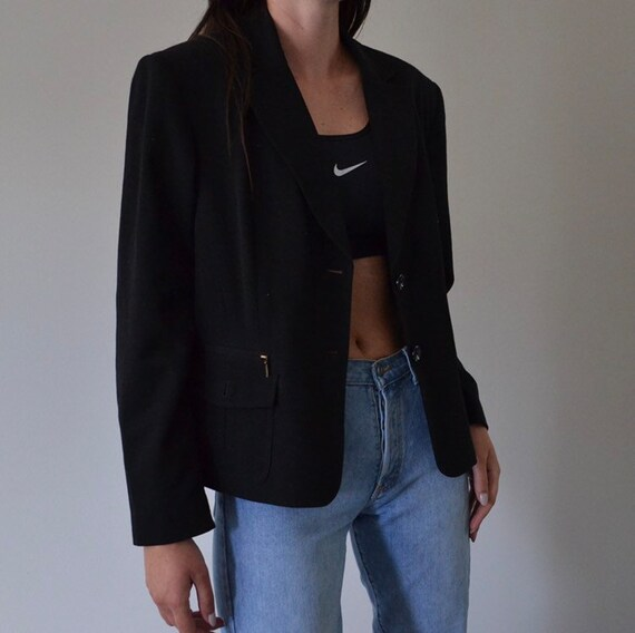Classic Black Oversized Blazer
