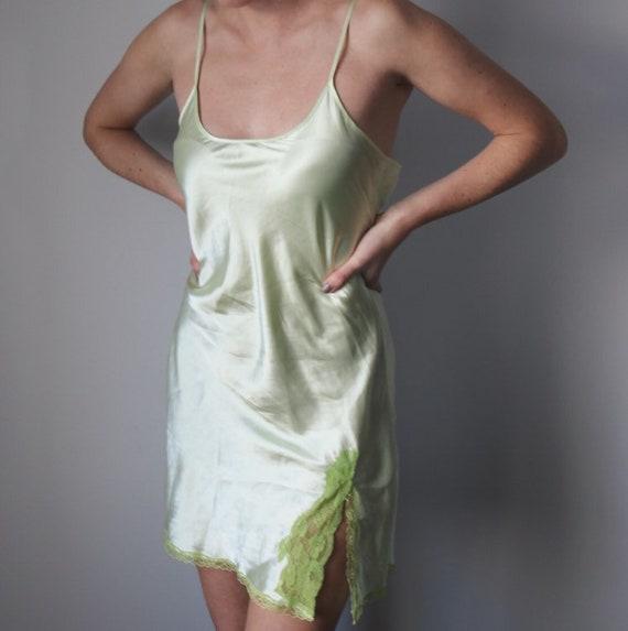 Y2K 90's Green Slip Dress