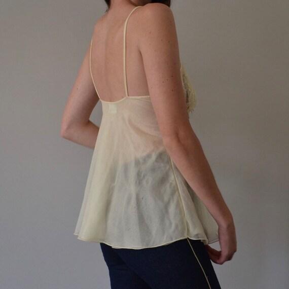 Vintage Pierre Cardin Sheer Mesh Lace Camisole - image 3