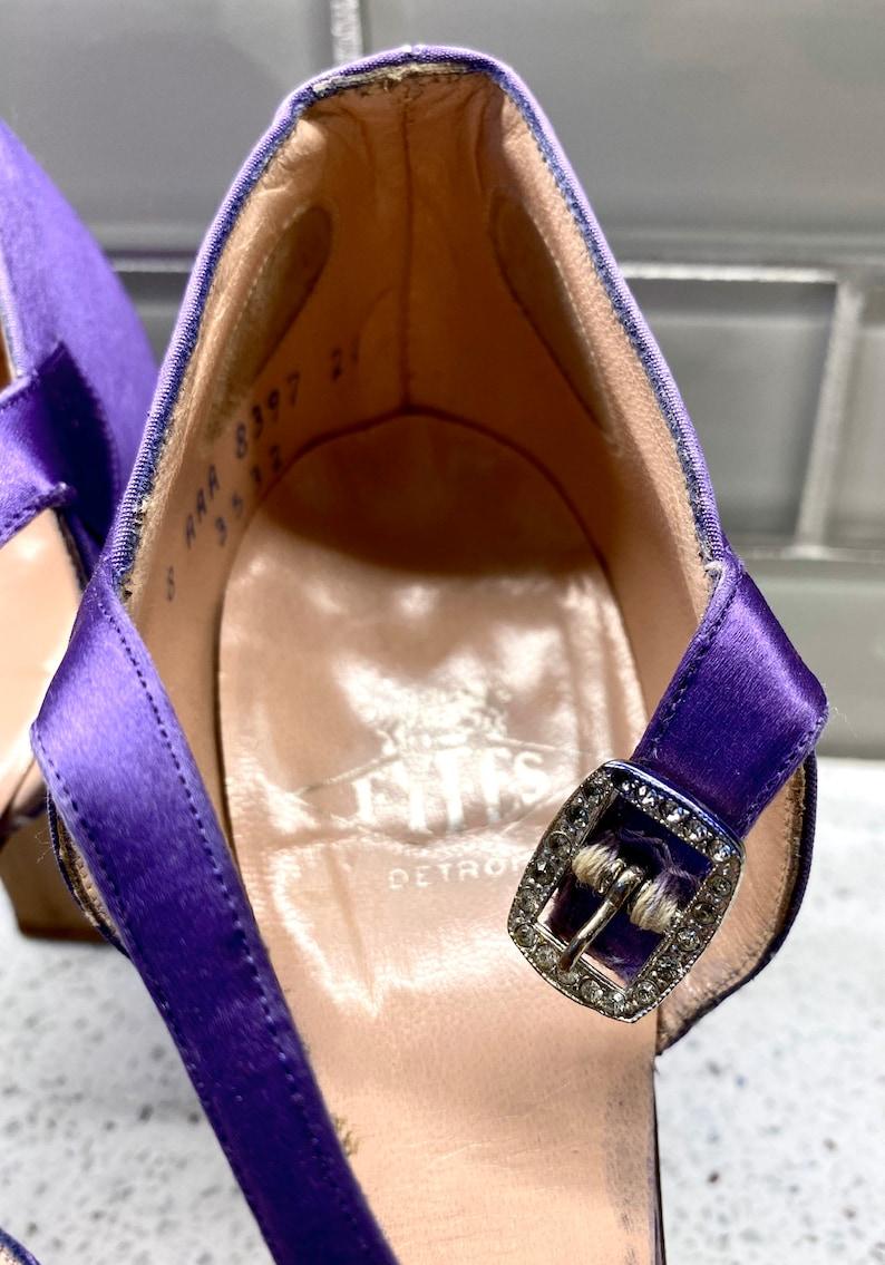 Vintage Women/'s Fyfe Detroit Shoes Size 9.5  Antique Vintage Purple High Heel Fyfe Detroit Women/'s Shoes Size 9.5