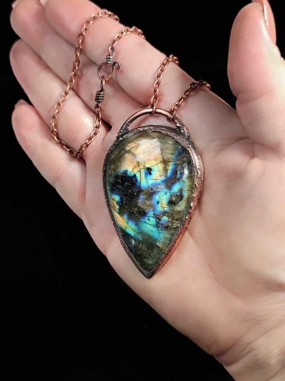 Labradorite Necklace | Electroformed Copper
