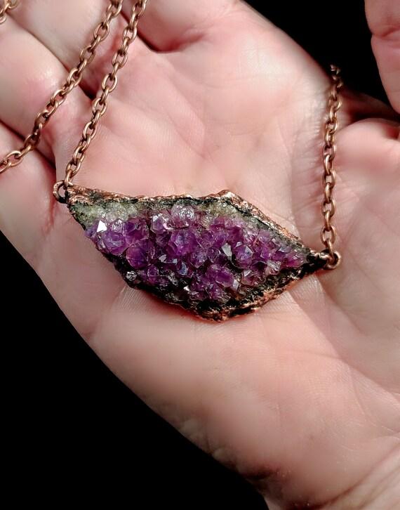 Amethyst Necklace | Electroformed Copper