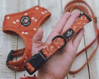 Cinnamon Spice Dog Collar, Padded Dog Collar, Adjustable Dog Collar, Orange Dog Collar, Rust Dog Collar, Matching Dog Collar, Dog Gift
