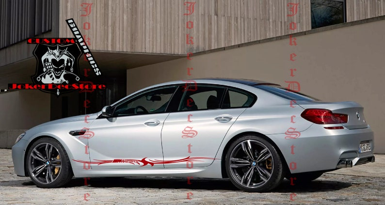 BMW M6 Trible Stickers Vinyl Graphics For BMW M6 graphics