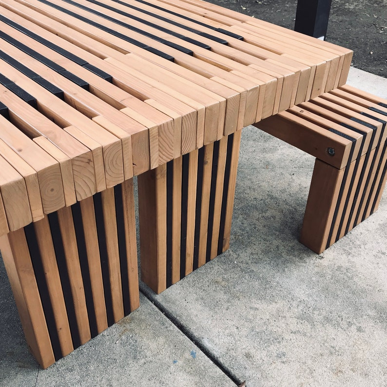 Simple Picnic Table Plans 2x4 Outdoor Furniture DIY easy ...