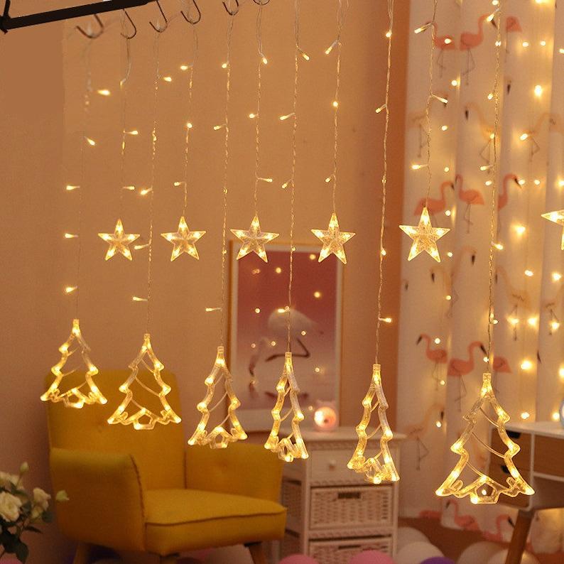 Christmas String Lights Warm White Fairy Lights garland Christmas Decorations for Home natal Decoracion kerst Navidad 12 Lamp.Q