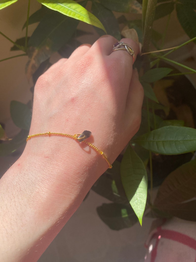 Dainty chain bracelet with crystal silvergold plated