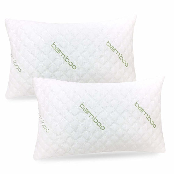 2-Pack King Adjustable Memory Foam Pillow with Washable Pillow Case Premium Pillows for Sleeping Bamboo Pillow
