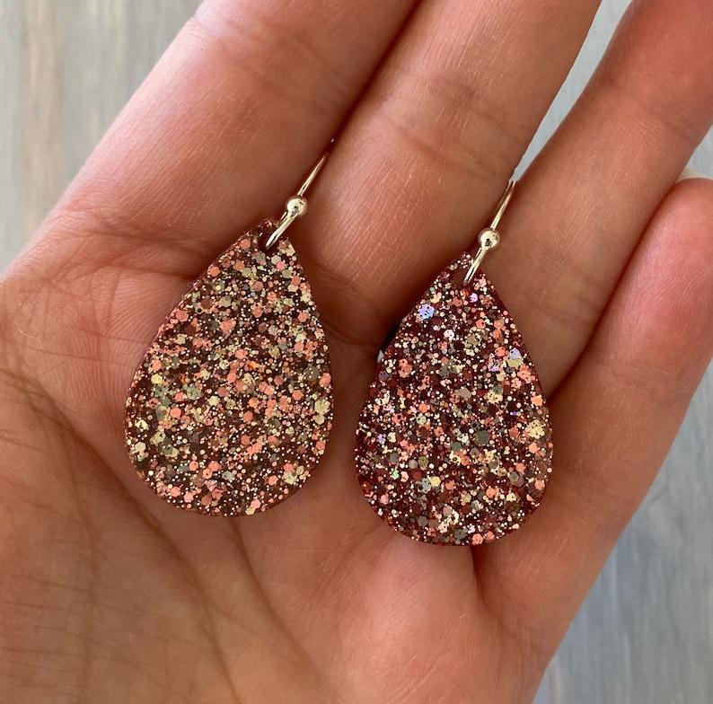 Small Teardrop Resin Earrings