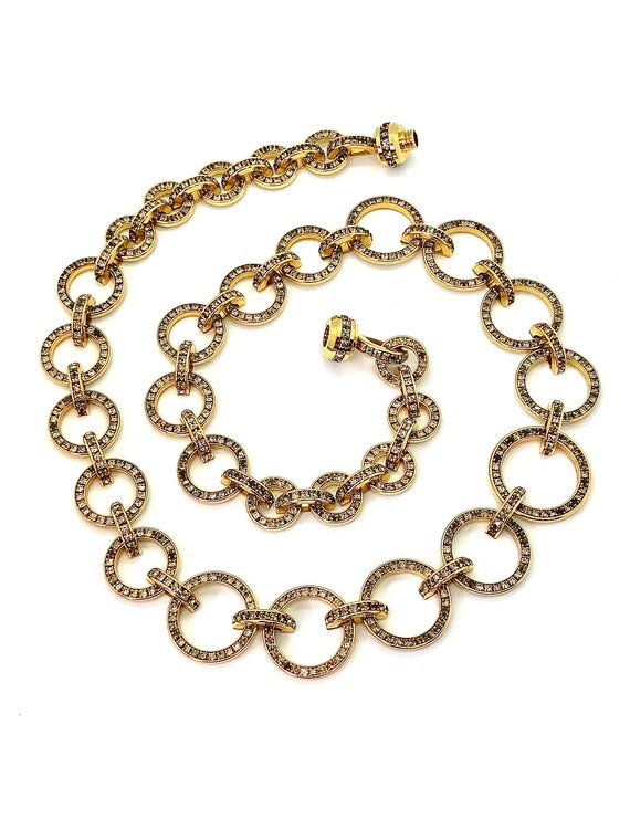 "Vintage Valentino ""V Night"" Long Gold Chain Link N"