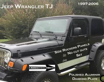 Jeep TJ Wrangler Diamond Plate Side Rocker Panels 5 3//4