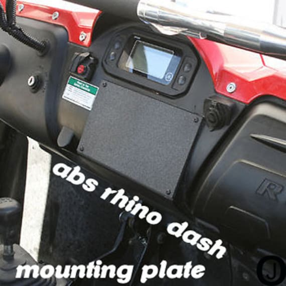 UTV INC Yamaha Rhino 2 Gauge Mounting Dash Panel Plate