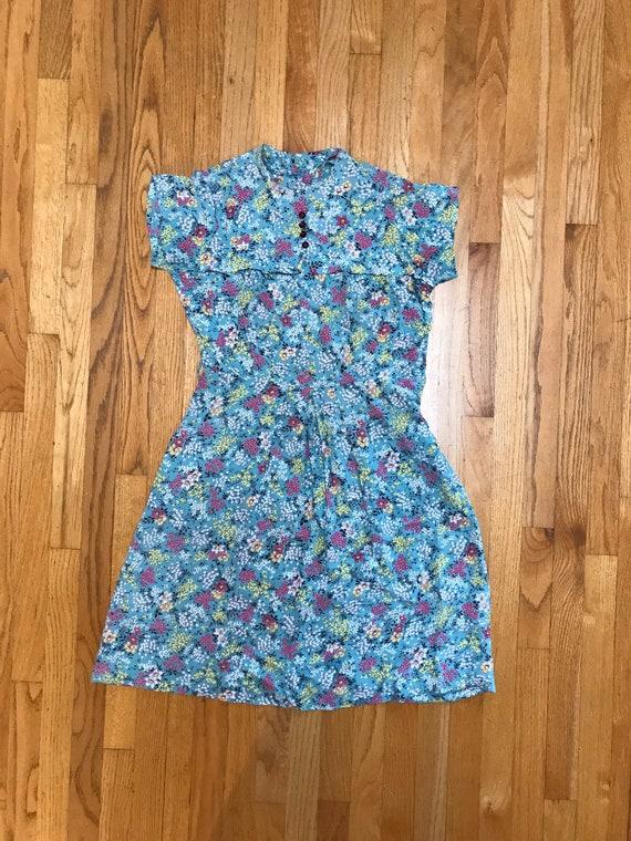 40's summer dress floral handmade