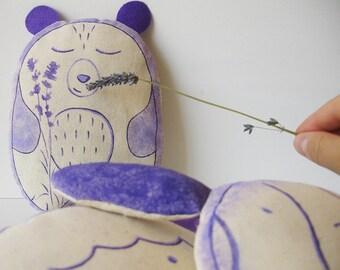 Stuffed bear, lavender pillows, memory bear, dried lavender gifts, stuffed animals bears, cute plushies, hug pillows, purple teddy bear