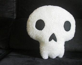Skull pillow, day of the dead, skull halloween decor, gothic home decor, human skull decor, halloween pillows, goth throw pillow, spooky
