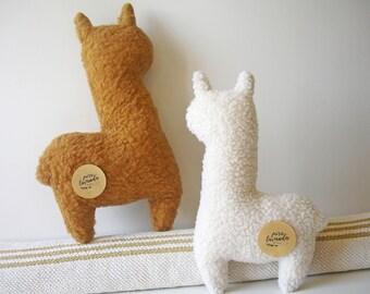 Alpaca pillow, alpaca plush, alpaca stuffed animal, alpaca fur pillow, minimalist decor, modern home decor, boho pillows, playroom decor