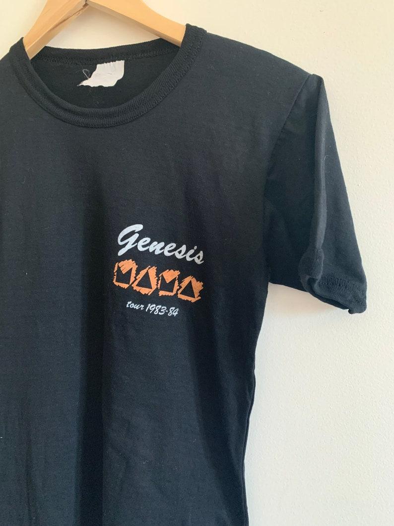VINTAGE cotton Genesis 80s tour t shirt
